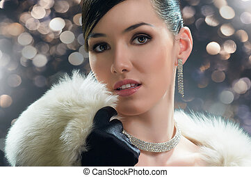 vintage style - beautiful girl in vintage style