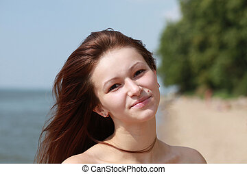 beautiful girl on a beach