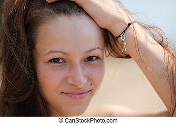 beautiful girl on a beach