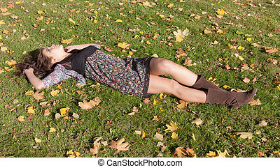 girl on a grass