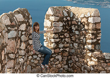 girl on the wall