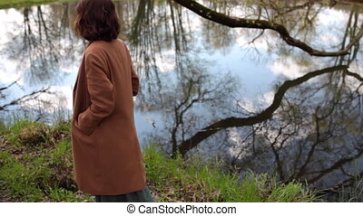 beautiful girl posing in nature