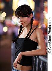 Beautiful girl posing in New York City
