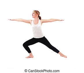 Beautiful girl practicing yoga