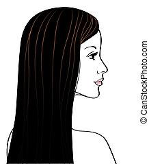 Beautiful girl silhouette