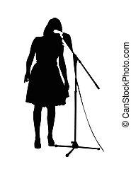 beautiful girl singing
