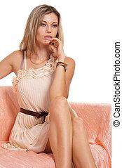 beautiful girl sitting