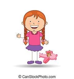 beautiful girl smiling pink plane