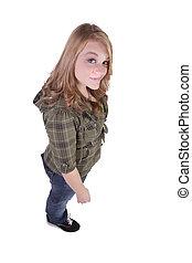Beautiful Girl Standing Up