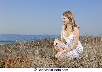 Beautiful girl waiting