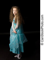 Beautiful Girl Wearing as Princess in Dress