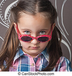 Beautiful girl wearing glasses