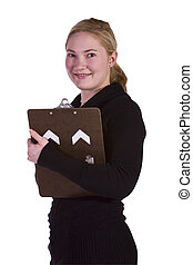 Beautiful Girl With a Clipboard