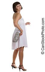 beautiful girl with a handbag