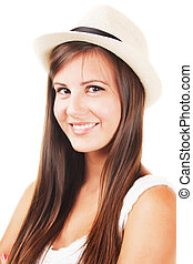 Beautiful girl with a hat