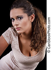 beautiful girl with a pony tail - View of a beautiful young ...