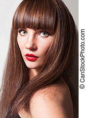 Beautiful Girl With Brown Hair