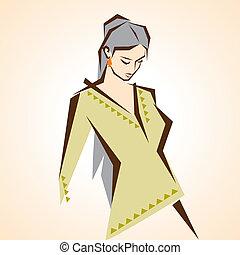 beautiful girl with dress