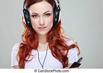 Beautiful girl with headphones