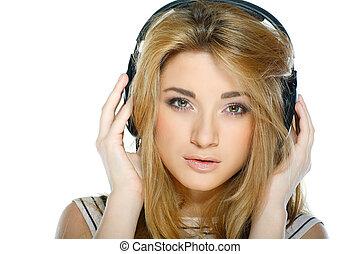 Beautiful girl with headphones