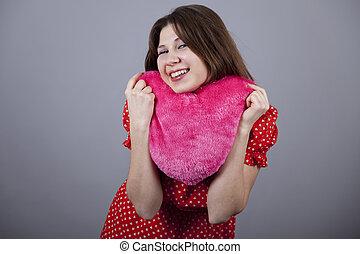 Beautiful girl with heart