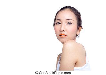 Beautiful girl with makeup