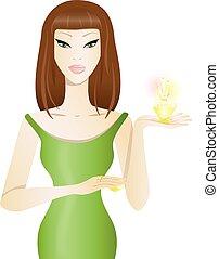 Beautiful girl with perfume