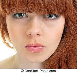 Beautiful girl with red hair