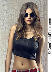 Beautiful girl with sunglasses