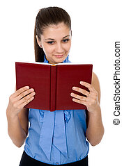 beautiful girl with the book in a hand
