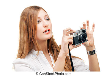 Beautiful Girl with the camera