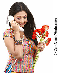 Beautiful girl with the phone