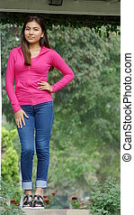 Beautiful Girl Youngster Standing