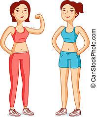 Beautiful girls in good shape