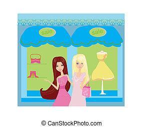 beautiful girls Shopping