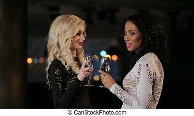 Beautiful Girls with Champagne