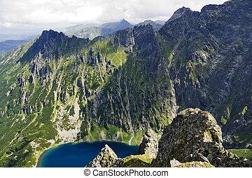 Beautiful glacial lakes in Polish Tatra mountains