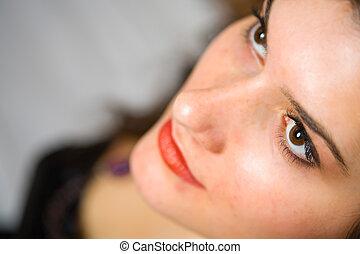 Beautiful glamour brunette