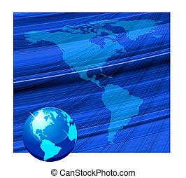 Beautiful globe background