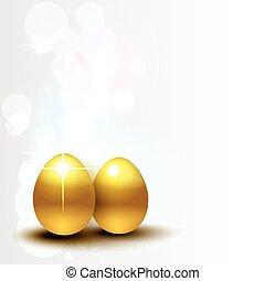 beautiful glowing vector golden egg