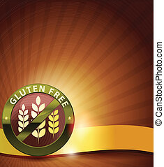 Beautiful gluten free design. Golden ribbon, harmonic and ...
