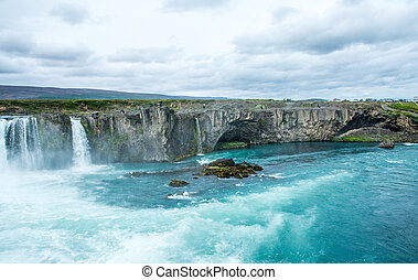 Beautiful Godafoss waterfall in Iceland