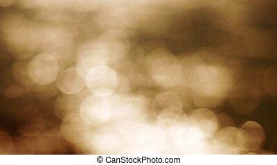 Beautiful gold abstract glittering lights bokeh background....