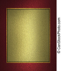 Beautiful gold background with a red ribbon on the edges. -...