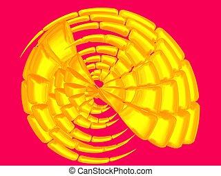 Beautiful gold shell