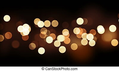 Beautiful Golden Bokeh Seamless Background Animation on...