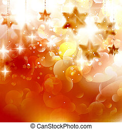 Beautiful golden christmas stars