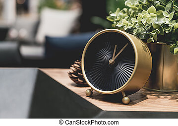 beautiful golden clock