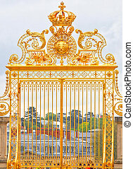 Beautiful Golden Gate at Versailles Palace