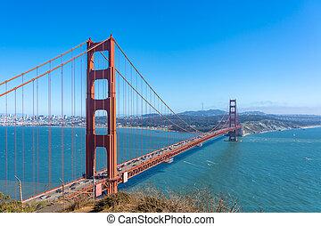 Beautiful Golden Gate in San Francisco.